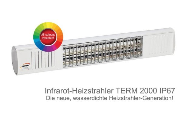 Infrarot-Heizstrahler TERM 2000 IP67